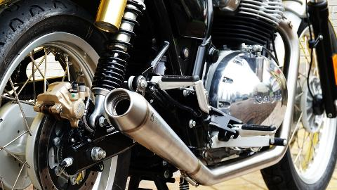 TERMINALI SCARICO OMOLOGATO  ROYAL ENFIELD  650 INTERCEPTOR 2IN 2  BS EXHAUST      ROYAL ENFIELD  650 INTERCEPTOR