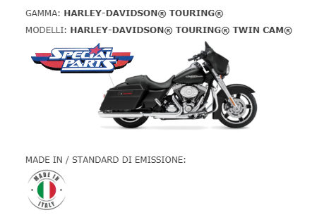 scarico finale marmitta slip-on  Harley Davidson TOURING® TWIN CAM® BS EXHAUST  TOURING® TWIN CAM®