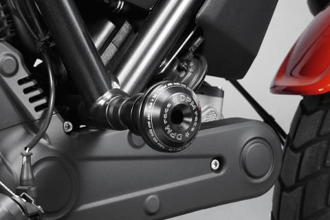 Kit Tamponi Paratelaio Ducati Scrambler 800 2015  De Pretto Moto Nylon Alluminio Ricavato Dal Pieno Finitura Naturale