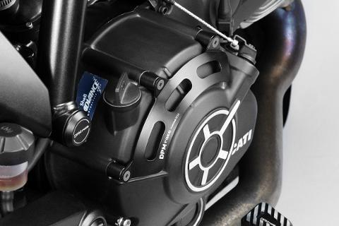 Protezione Carter Frizione Ducati Scrambler 800 2015 De Pretto Moto Alluminio Anodizzato Ricavato Dal Pieno Nero