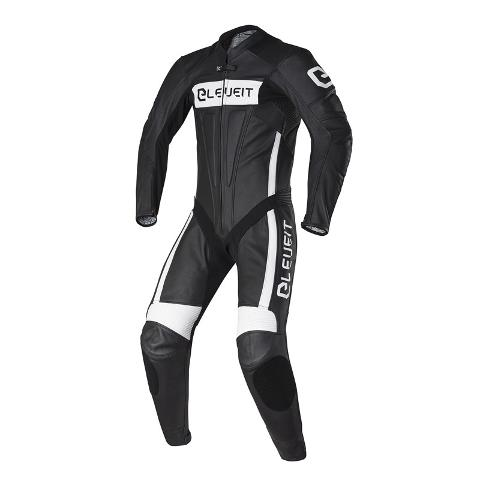 Tuta in Pelle Racing Pista Heleveit  Sp-01 Nero Bianco rc pro suit