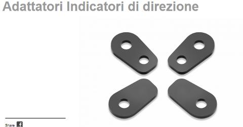 Kit Adattatori Frecce XADV Rizoma FR237B materiale plastico