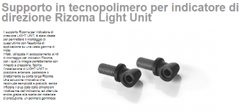 Supporto in tecnopolimero per indicatori Light Unit Rizoma innesto in acciaio inox