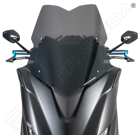Cupolino Yamaha TMax 560 2020 Barracuda AeroSport plexiglass semitrasparente colore fume' scuro