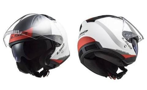 casco jet visiera lunga e visiera parasole  LS2 COPTER OF600