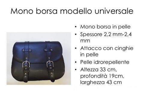 Borsa in Vera  Pelle Idrorepellente Singola Special Parts Universale