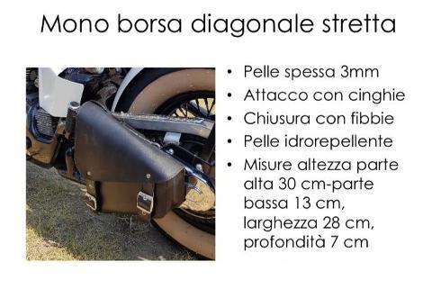 Borsa In pelle Idrorepellente Singola  Laterale  Special Parts Diagonale Stretta