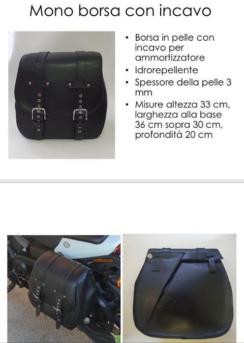 Borsa in Vera  Pelle Idrorepellente Singola Special Parts Con Incavo Per Ammortizzatore