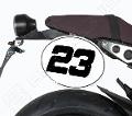 Kit Tabella Porta Numero Yamaha XSR 900 Barracuda Alluminio Anodizzato Argento e Adesivo Bianco