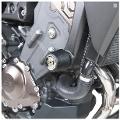 Kit Tamponi Paratelaio Yamaha Tracer 900 / GT Barracuda PVC nero  distanziali in alluminio anodizzato