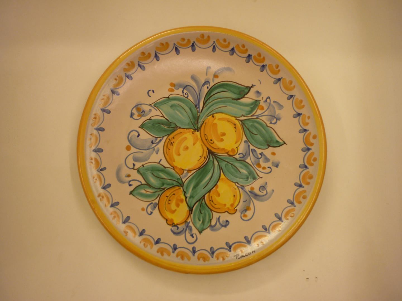Piatti con decoro fiori limoni palmette palermo
