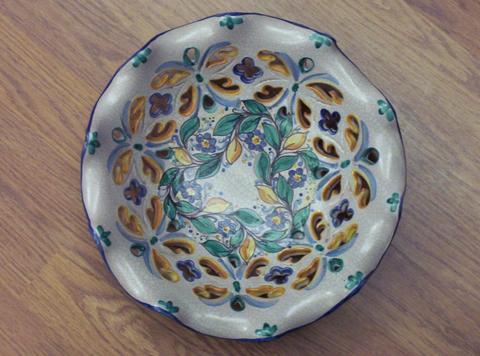 Centrotavola artigianale Pacon in ceramica