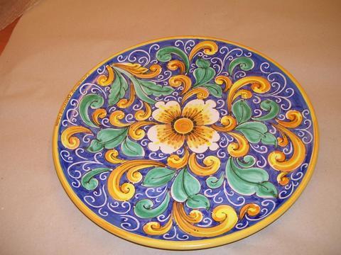 Piatti in ceramica Diametro 30-35-45 Pacon decoro caltagirone