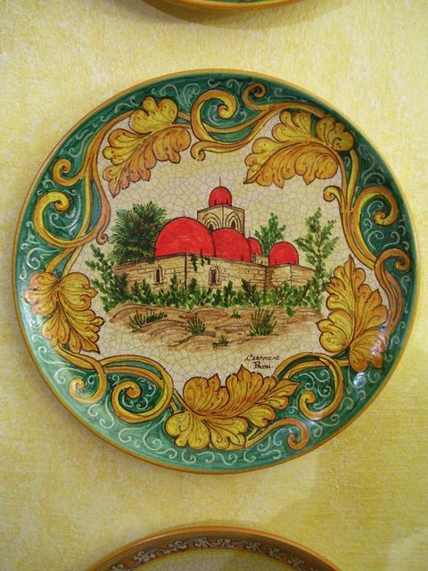 Piatti in ceramica  Pacon  decoro Palermo