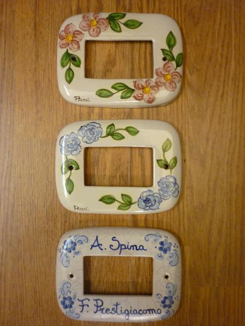 Placche per interruttori  Pacon in ceramica