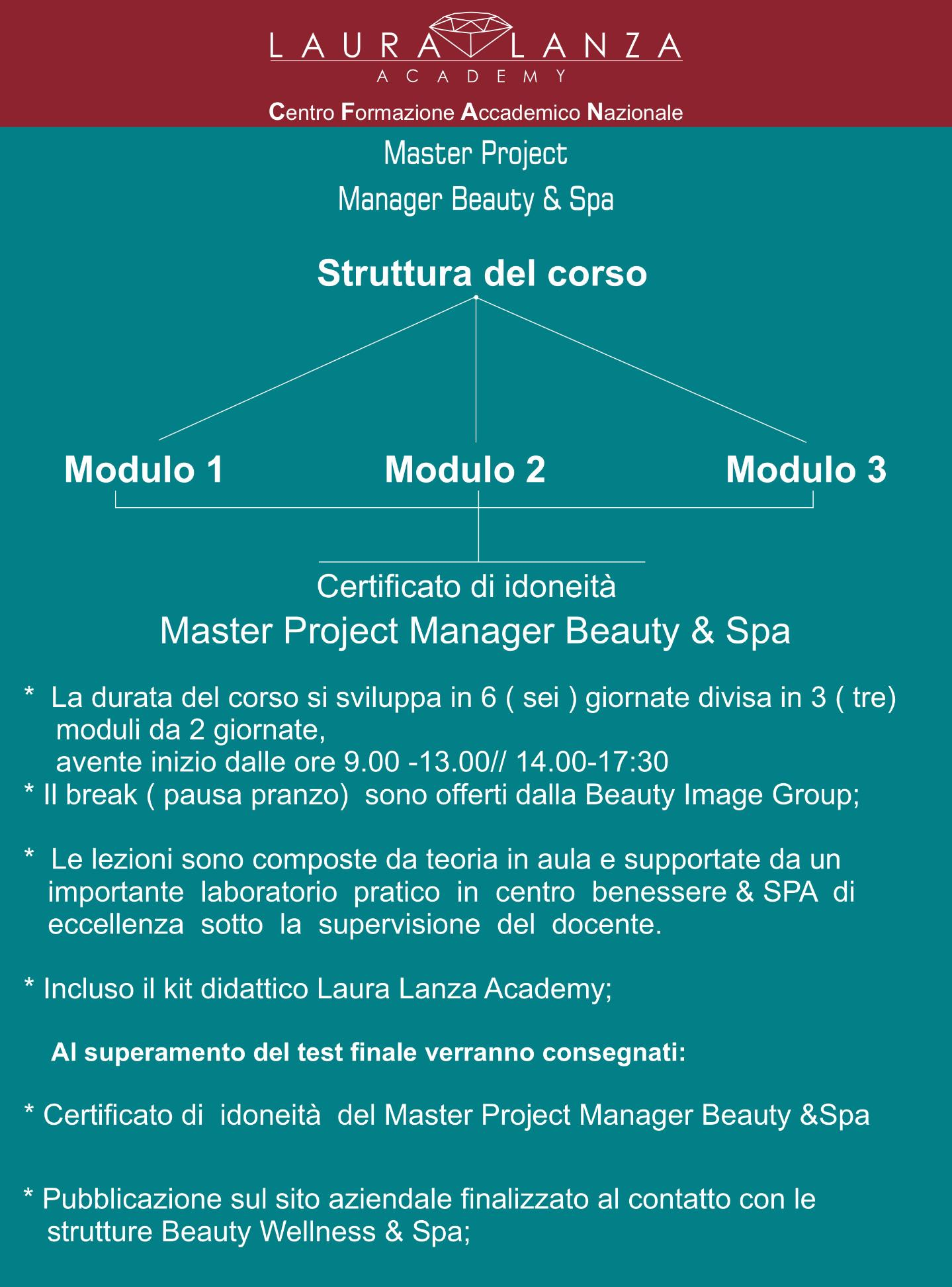 SPA MANAGER  MASTER PROJET MANAGER & BEAUTY SPA  19 MARZO 2020  Catania