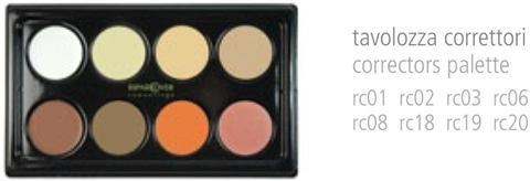 composizione tavolozze crema camuflage / camuflage cream palettes arrangement RIPAR COVER CAMOUFLAGE RIPAR COVER