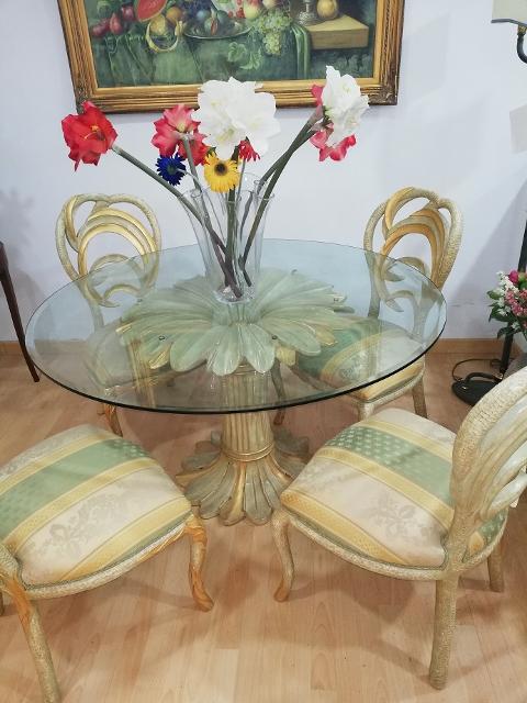 Tavolo rotondo e sedie Ditta Furlanetto Mod. Margherita
