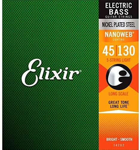 ELIXIR 14202 NANOWEB LIGHT LONG SCALE BASS 5 CORDE