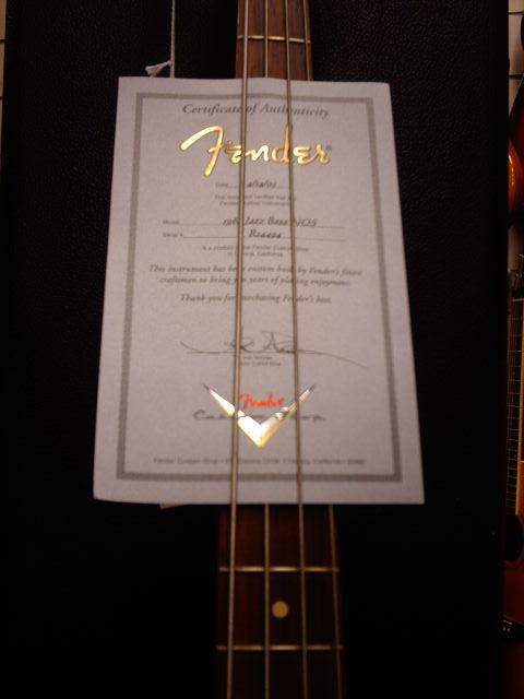 FENDER JAZZ BASS CUSTOM SHOP 1964 NOS SUNBURST