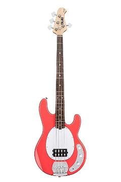 STERLING BY MUSIC MAN RAY4 FIESTA RED SPEDIZIONE INCLUSA