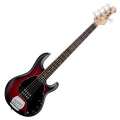 STERLING BY MUSIC MAN RAY5 RUBY RED BURST SATIN SPEDIZIONE INCLUSA
