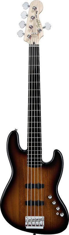 SQUIER DELUXE JAZZ BASS V ACTIVE SUNBURST
