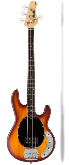 STERLING BY MUSIC MAN RAY4 HONEY BURST SATIN SPEDIZIONE INCLUSA