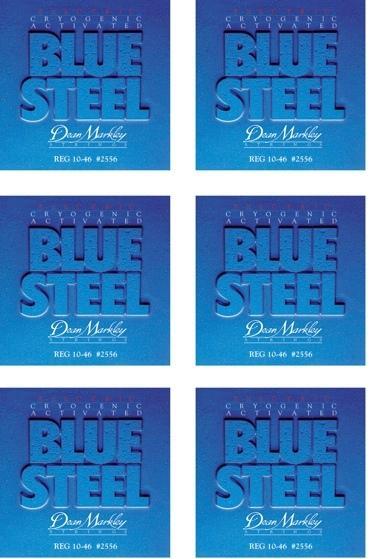 DEAN MARKLEY 2556 BLUE STEEL 10/46 CONFEZIONE 6 MUTE