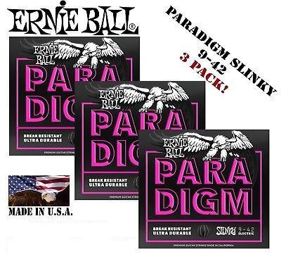 ERNIE BALL 2023 PARADIGM 09 42 SET DA TRE