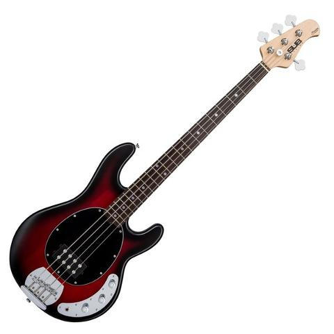 STERLING BY MUSIC MAN RAY4 RUBY RED BURST SATIN SPEDIZIONE INCLUSA