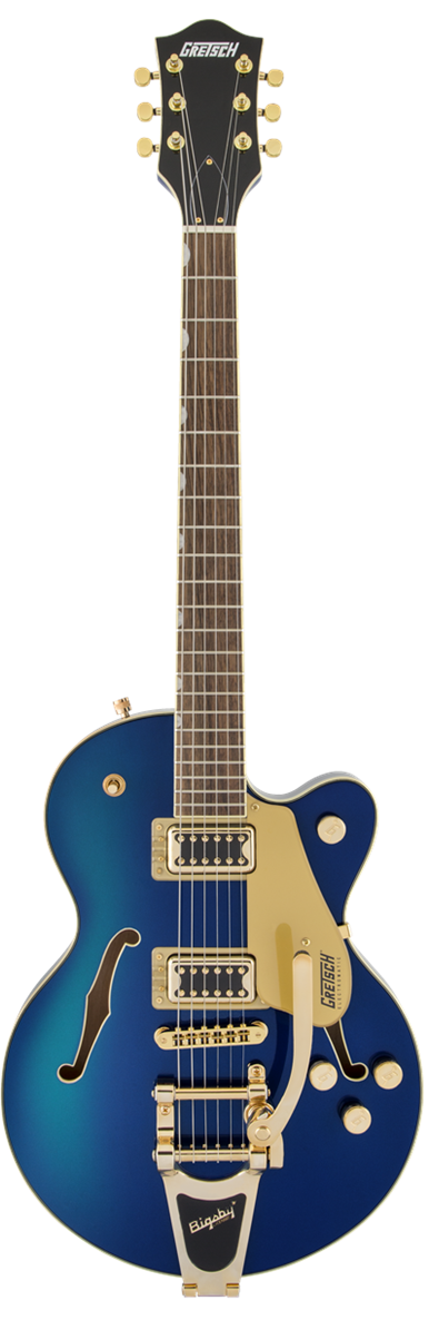 GRETSCH G5655TG CB JR BIGSBY GOLD HARDWARE AZURE METALLIC