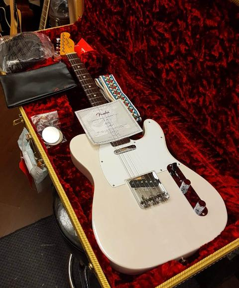 FENDER JIMMY PAGE TELE MIRROR RW WHITE BLONDE