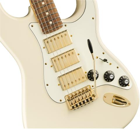 FENDER LIMITED EDITION MAHOGANY BLACKTOP STRATOCASTER HHH
