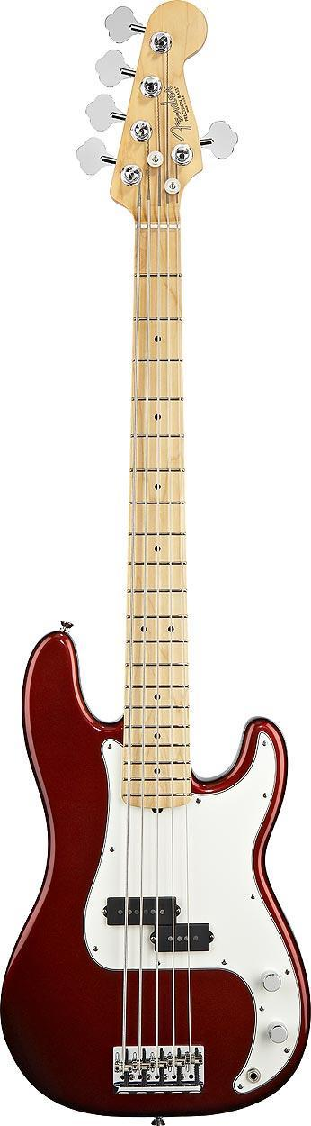 FENDER AMERICAN STANDARD PRECISION BASS V 2012 MN CANDY COLA