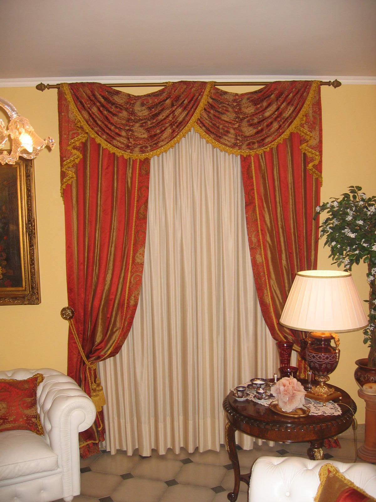 Tende classiche con cadute e drappi acquedolci messina for Tende da sala
