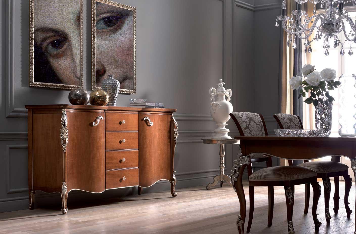 Credenza Camera Da Pranzo : Camera da pranzo classica house venere acquedolci messina