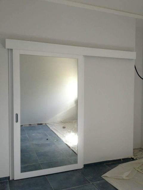 Porta scorrevole con binario esterno caltagirone catania - Porta specchio scorrevole ...
