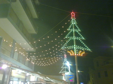 luminarie in tettoia