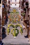 The flowered scala events Caltagirone B&B Sicily