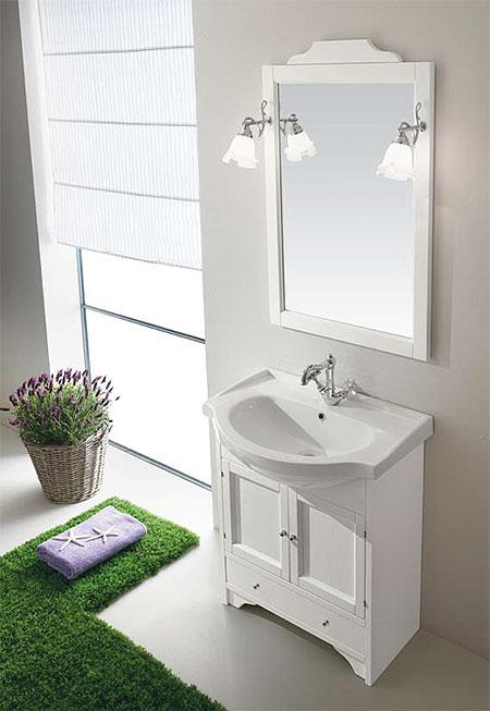 Composizione mobile bagno classico eban carla catania - Mobile bagno classico bianco ...