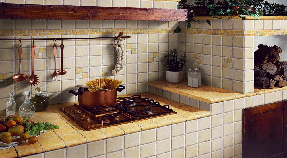 Rivestimento cucina in muratura elios i ciottoli catania