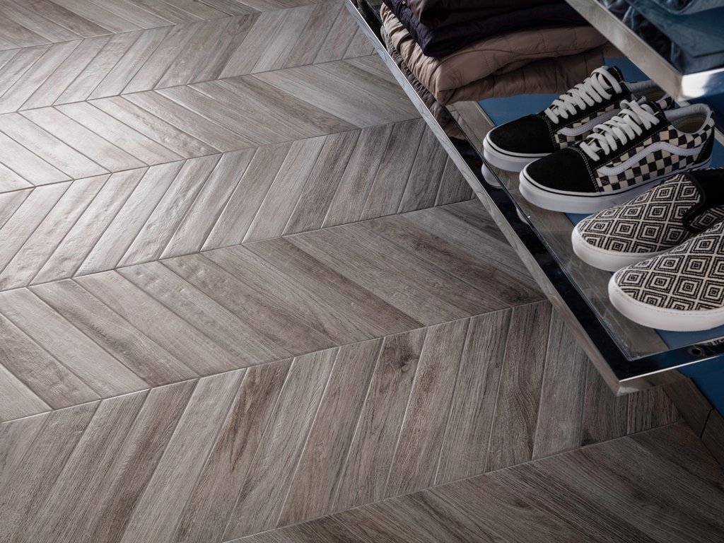 Pavimento gres parquet rondine vintage catania for Spessore parquet