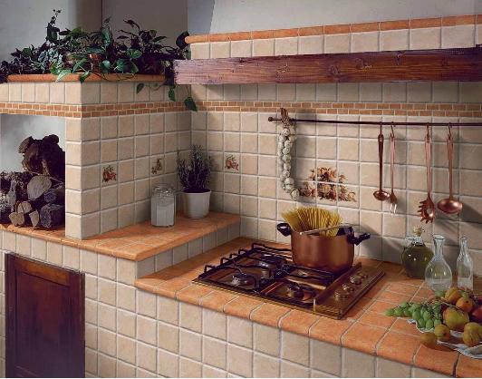 Rivestimento cucina in muratura Elios I Ciottoli - Catania