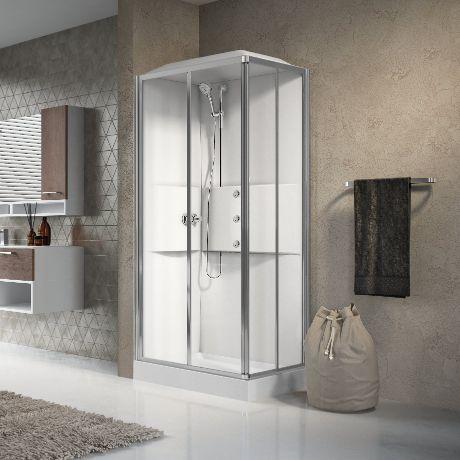 Cabina doccia idromassaggio novellini media catania - Cabine doccia multifunzione novellini ...