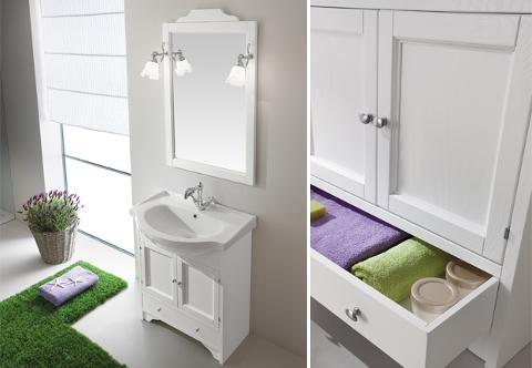 Composizione mobile bagno classico Eban Carla