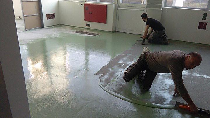Pavimento in resina spatolato a castelfranco veneto resina italia