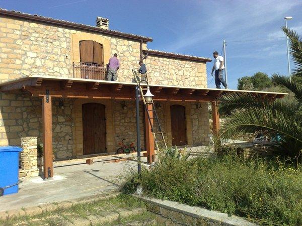 Verande in legno lamellare corso legnami srl veranda - La casa del barbecue brescia ...