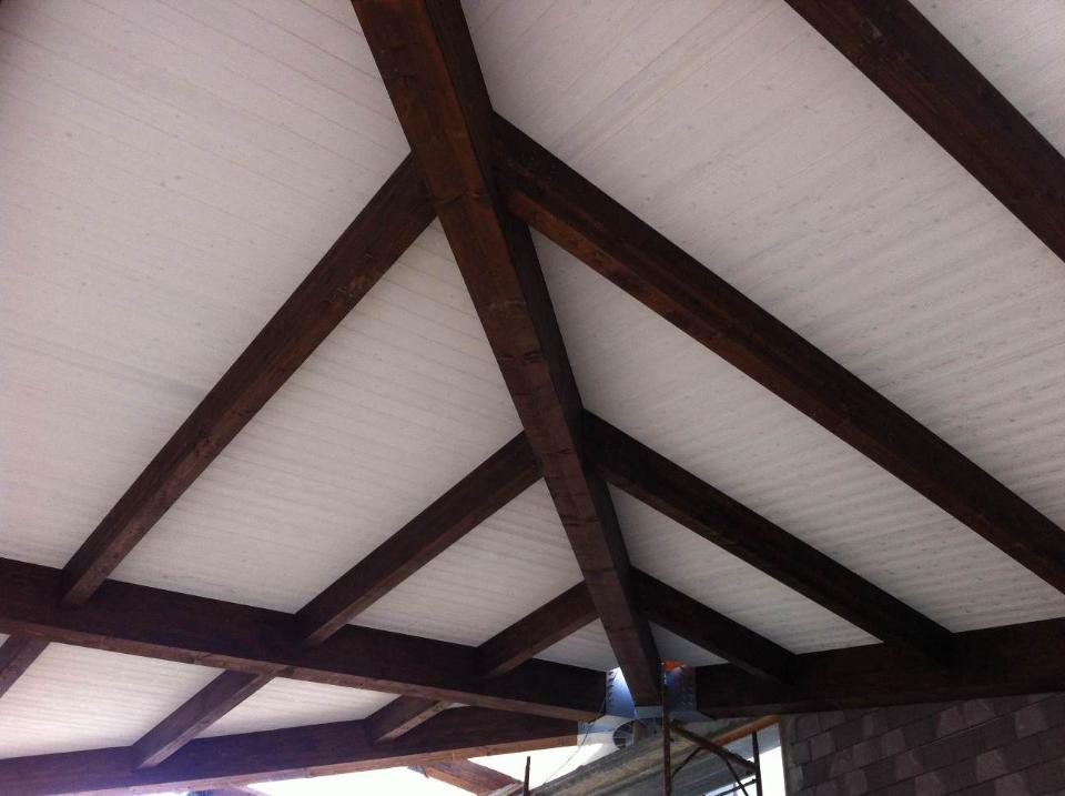 tetti in legno impregnato bianco corso legnami srl lamellare