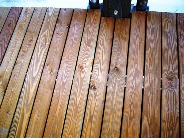 Pavimento in legno per esterno di larice corso legnami srl - Pavimenti legno per esterno ...